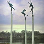 3 Angels Statue Philadelphia Poster
