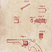 Antique Smith And Wesson Patent For A Metallic Cartridge 1860 Poster