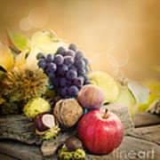 Autumn Fruit Poster