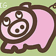 Baby Pig Art For The Nursery Poster