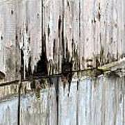 Battered Wooden Wall Poster