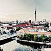 Berlin Germany View On Major Landmarks Poster
