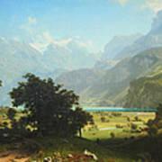 Bierstadt's Lake Lucerne Poster