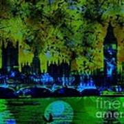 Big Ben On The River Thames Poster
