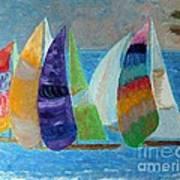 Boats At Sunset 1 Poster