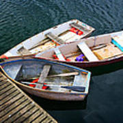 3 Boats Poster by Emmanuel Panagiotakis