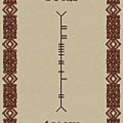Boyle Written In Ogham Poster