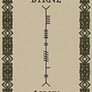 Byrne Written In Ogham Poster