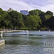 Central Park Pond Poster