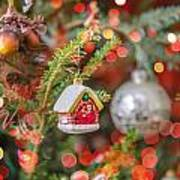 Christmas Tree Ornaments And Decorations Poster