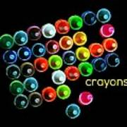 Colorful Wonderful Crayons Poster
