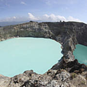 Colourful Crater Lakes Of Kelimutu Poster by Richard Roscoe