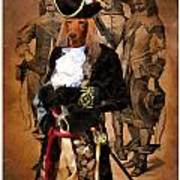 Dachshund Art Canvas Print Poster