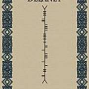 Delaney Written In Ogham Poster