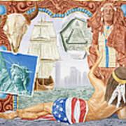 Destruction Of Native America Poster