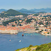 Dubrovnik, Croatia. Overall View Of Old Poster