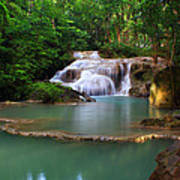 Erawan Waterfall Poster