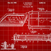 Etch A Sketch Patent 1959 - Red Poster