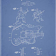 Fender Guitar Patent Drawing From 1960 Poster