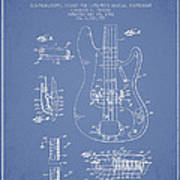 Fender Guitar Patent Drawing From 1961 Poster