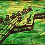 Fender Strat Poster by William Cauthern