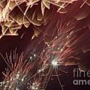 Fireworks On Bastille Day Poster by Sami Sarkis