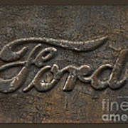 Ford Tough Antique Truck Logo Poster
