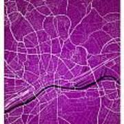 Frankfurt Street Map - Frankfurt Germany Road Map Art On Colored Poster