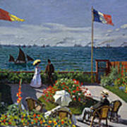 Garden At Sainte-adresse Poster