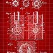 Golf Ball Patent 1902 - Red Poster