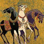 3 Horses Poster