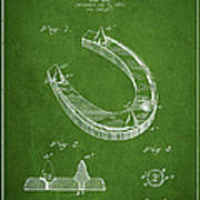 Horseshoe Patent Drawing From 1881 Poster