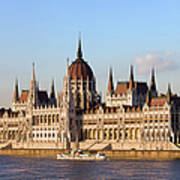 Hungarian Parliament Building In Budapest Poster