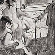 Illustration From La Maison Tellier By Guy De Maupassant Poster