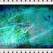 Impressionist Blue Poster
