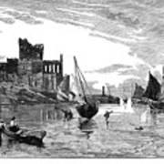 Isle Of Man Peel, 1885 Poster
