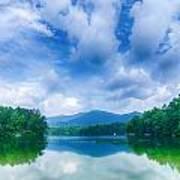 Lake Santeetlah In Great Smoky Mountains North Carolina Poster