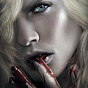 Lestat Licks Blood Poster