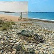 Lloyd's Bathing Beach At Sakonnet Point In Little Compton Ri Poster