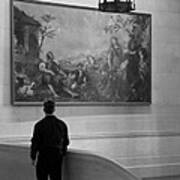 Looking At A Painting Poster