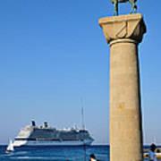 Mandraki Port Poster