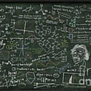 Maths Formula On Chalkboard Poster by Setsiri Silapasuwanchai