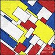 Mondrian Rectangles Poster