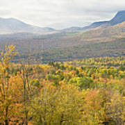 Mountains In Fall Mount Blue State Park Weld Maine Poster