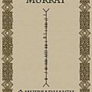 Murray Written In Ogham Poster