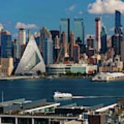 New York City Skyline As Seen Poster