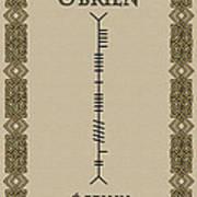 O'brien Written In Ogham Poster