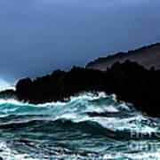 Ocean Foam In Fury Poster