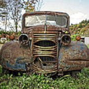 Old Junker Car Poster