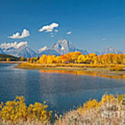 Oxbow Bend Grand Teton National Park Poster